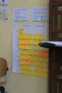 Post-It notes - AGILE principles (Self-organisation, customer satisfaction...)